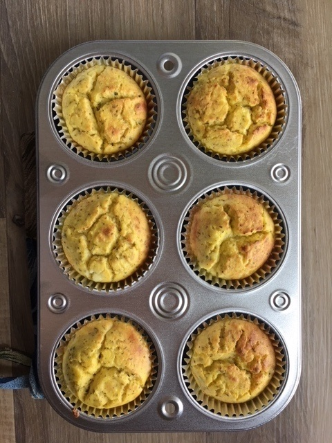 Cooked ricotta nake muffins