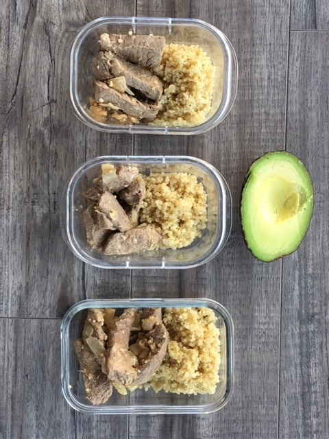 Avocado Beef Stir Fry meal Prep