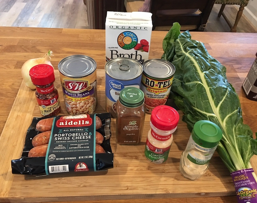Ingredients for Instant Pot Good Luck Greens Soup