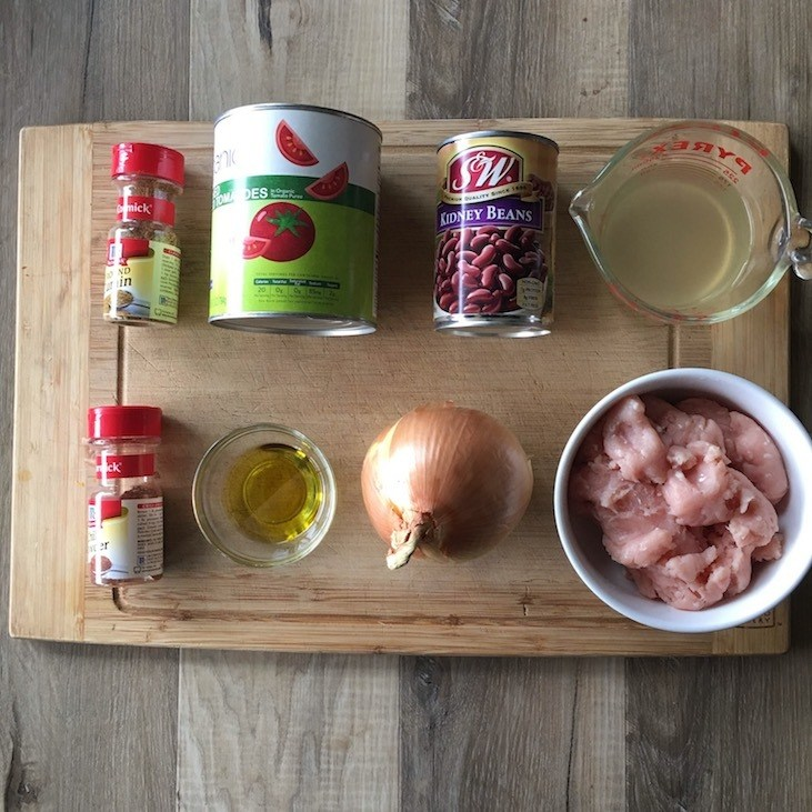 Instant Pot Turkey Chili Ingredients