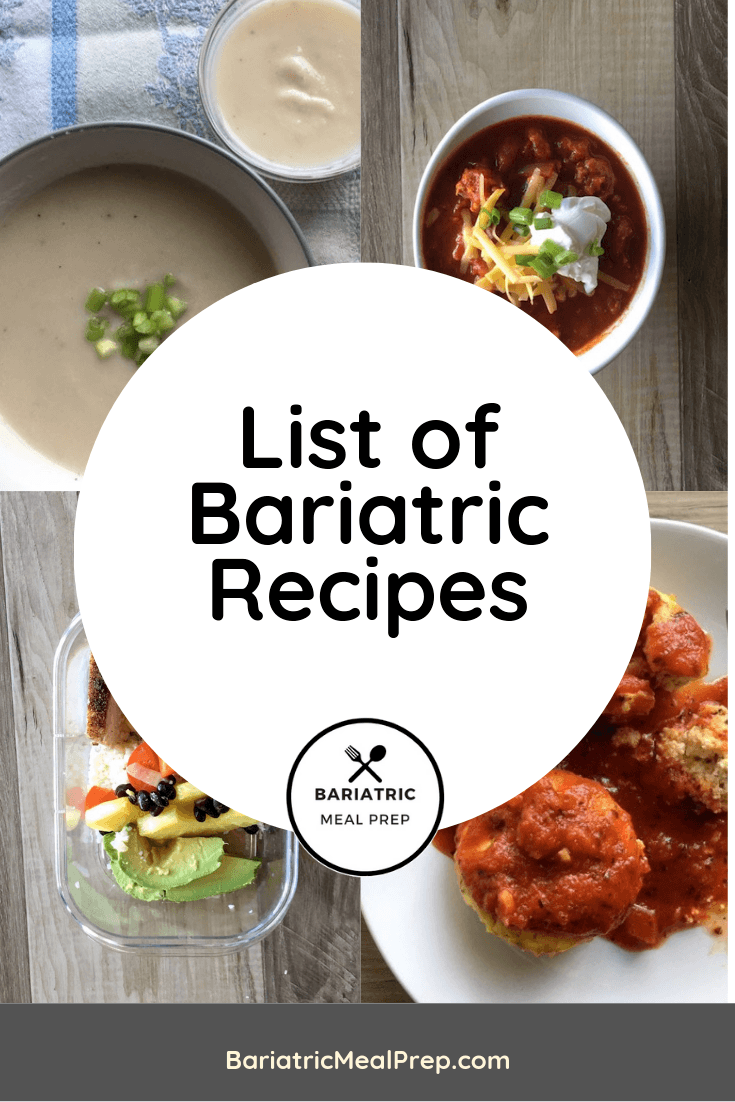 Bariatric Recipes Pinterest Pin