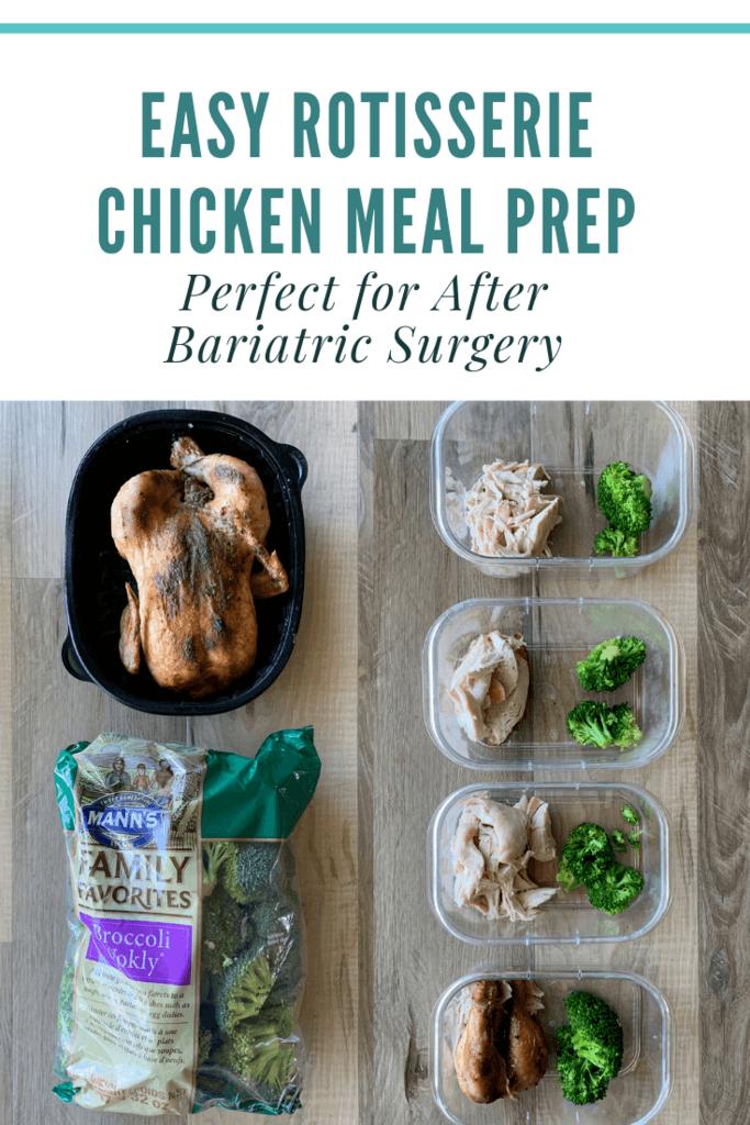 Rotisserie Chicken Meal Prep Pinterest image