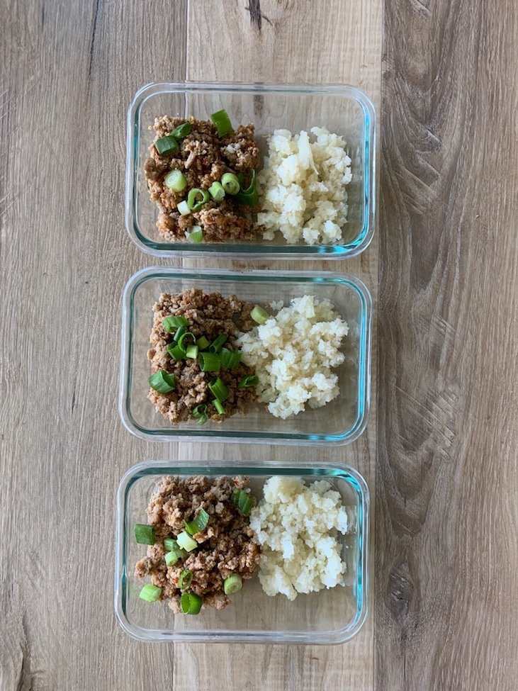 3 Meal prep Korean turkey meals