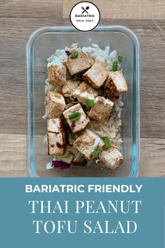 Tofu Salad Pinterest Image