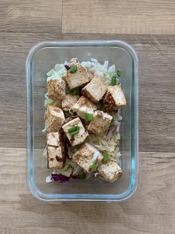 Single container of Thai Tofu
