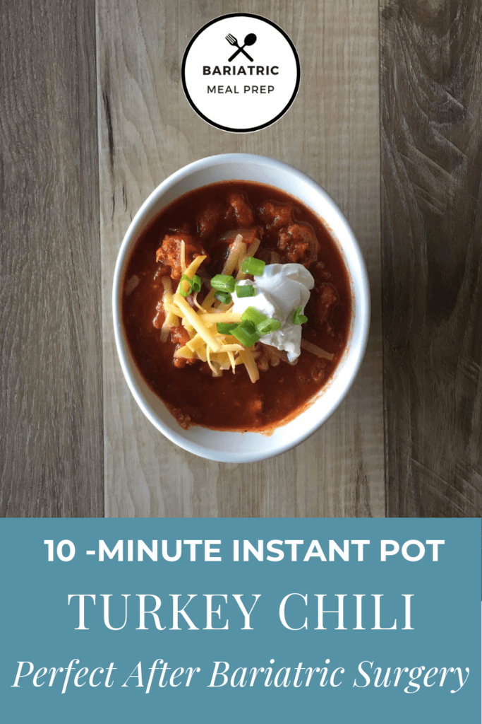 Turkey Chili Pinterest Image for after bariatric surgery