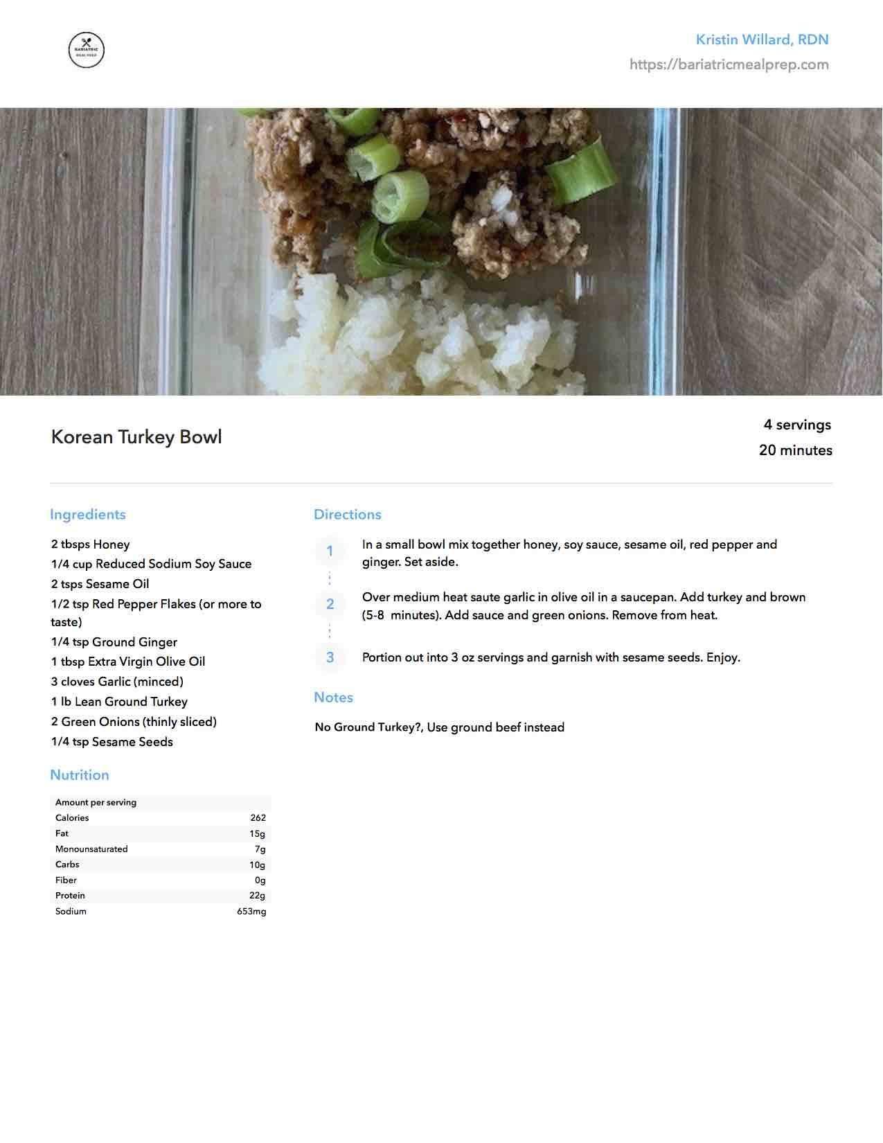 Recipe Example