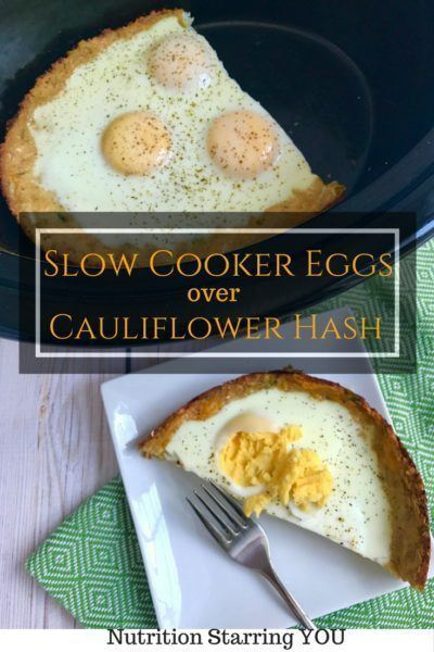 Slow cooker egg meal