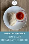 Low Breakfast Burrito Pinterest Image