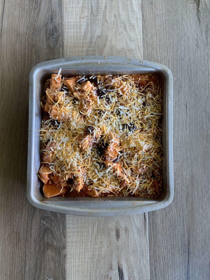 Uncooked Chicken Enchilada Casserole
