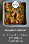 Low Carb Chicken Enchilada Pinterest Image