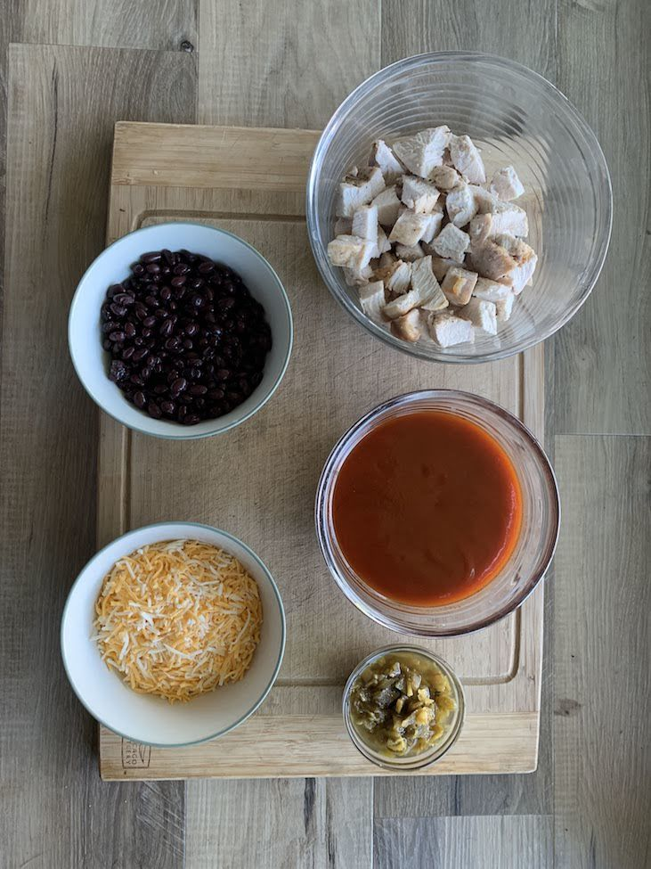 Ingredients for Low Carb Chicken Casserole