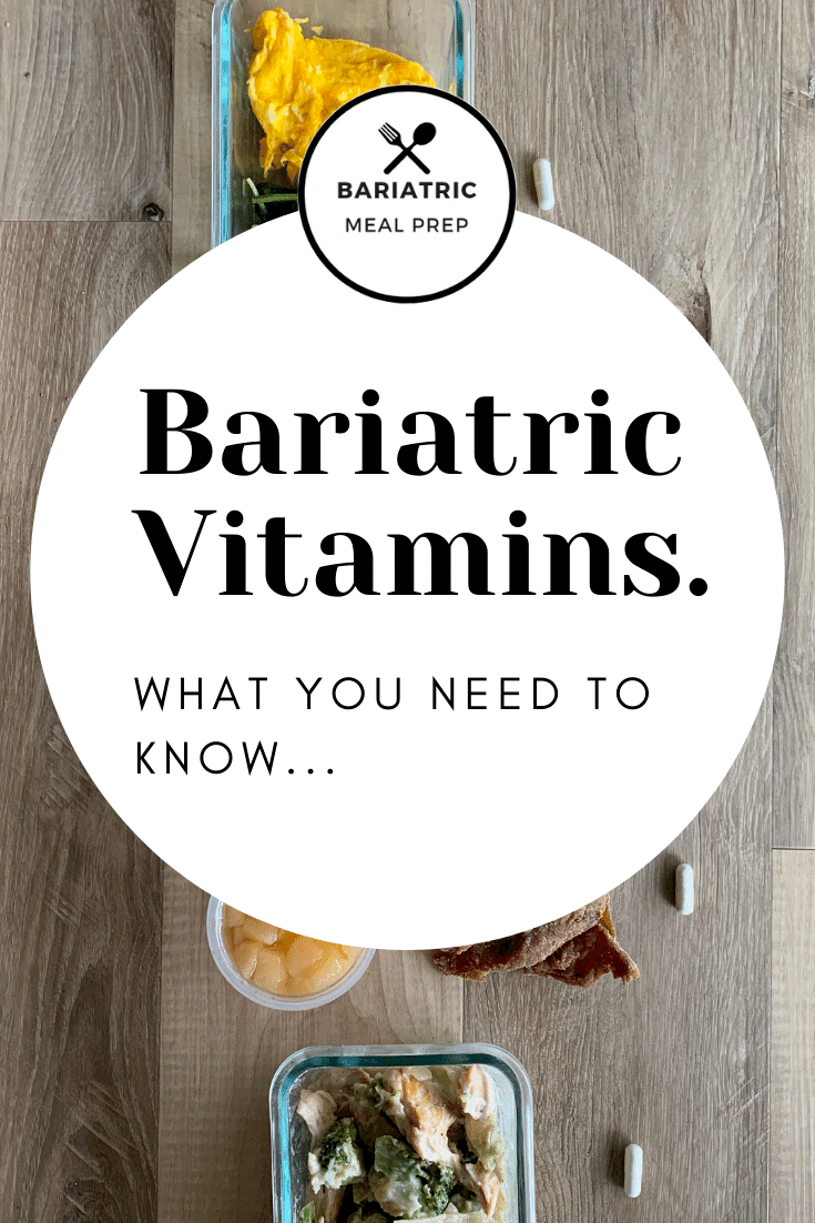 Bariatric Vitamin Pinterest Image