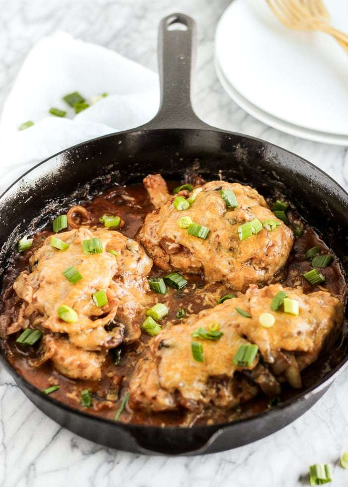 Make ahead freezer recipe crockpot bbq mushroom chicken