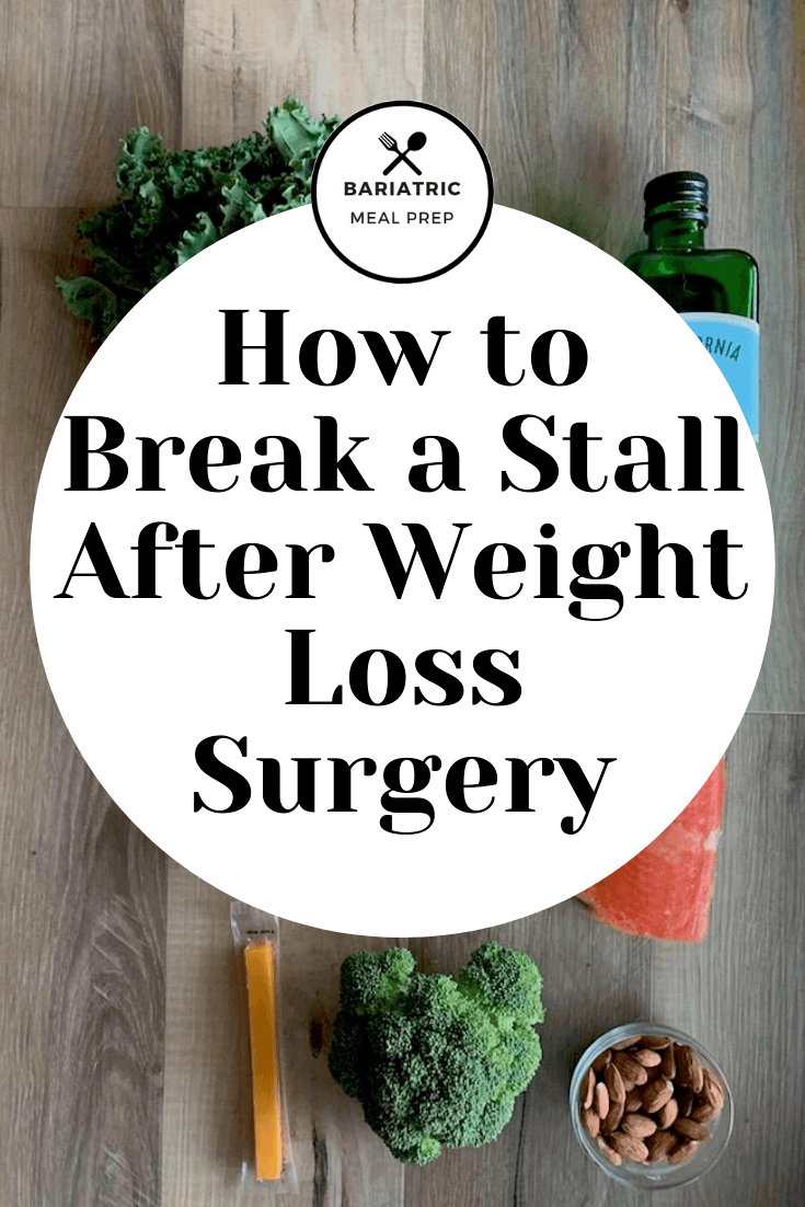 How o break a Stall After Weight Loss Surgery Pinterest Image